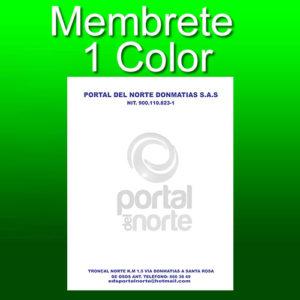 Membrete 1 color