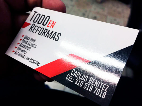 tarjetas de presentacion brillo uv Litocreativos Litografia Medellín