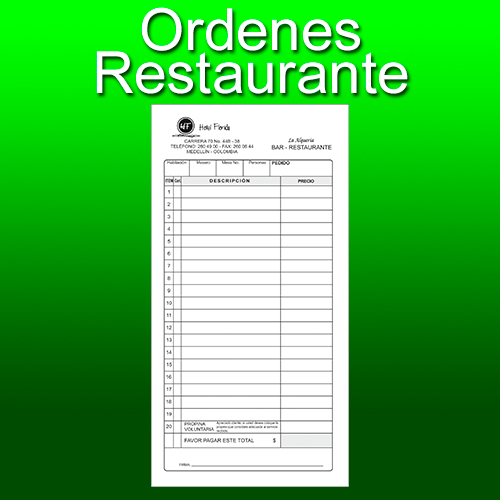 ordenes restaurante