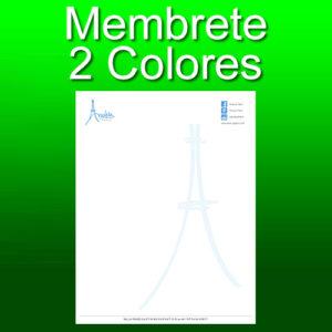 Membrete 2 colores