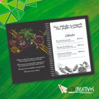 carta de menus litografia Medellin litocreativos