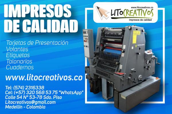 publicidad litocreatios litografia medellin