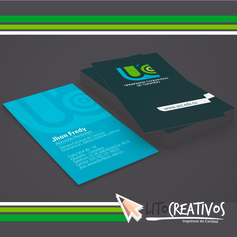 Tarjetas De Presentacion Litografia Medellin Litocreativos