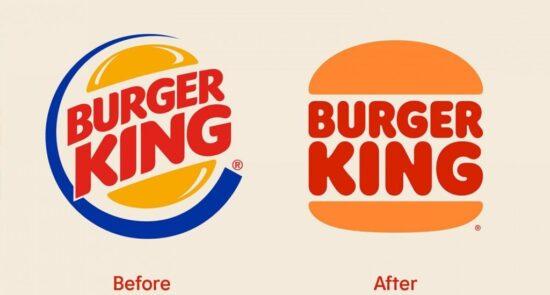 El rediseño de logos de Burgue King, antes y después