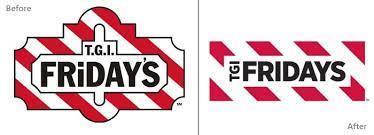 El rediseño de logos de T.G.I FRIDAY`S, antes y después