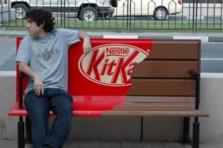 Kit Kat, y su ejemplo de publicidad creativa o BTL